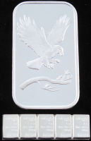 Lot of (6) .999 Fine Silver Bullion Bars with (1) 1 Troy Ounce Bar, & (5) 1 Gram Silver Valcambi Mint Uncut Bullion Bars at PristineAuction.com