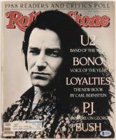 Bono Signed 1989 Rolling Stone Magazine (Beckett COA) at PristineAuction.com