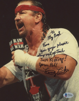 Terry Funk Signed WWE 8x10 Photo with Extensive Inscription (Beckett COA) at PristineAuction.com