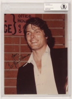 """Christopher Reeve Signed 8x10 Photo Inscribed """"Love,"""" (BAS Encapsulated) at PristineAuction.com"""