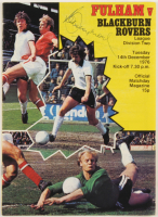 Bobby Moore Signed 1976 Fulham v Rovers Program (Beckett LOA) at PristineAuction.com