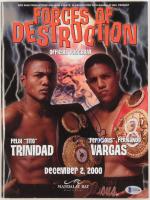 Fernando Vargas Signed 2000 Forces of Destruction Program (Beckett COA) at PristineAuction.com