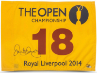 Rory McIlroy Signed 2014 British Open Pin Flag (UDA COA) at PristineAuction.com