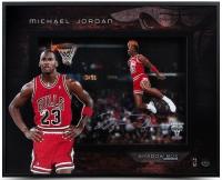 "Michael Jordan Signed Bulls ""1988 Gatorade Slam"" 16.5x20.5x2.5 Custom Framed Shadowbox Display (UDA COA) at PristineAuction.com"