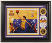 Lonzo Ball Lakers LE 16x13 Custom Framed Photo Display at PristineAuction.com