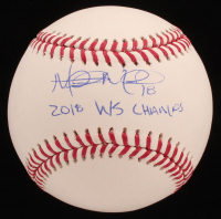 "Mitch Moreland Signed OML Baseball Inscribed ""2018 WS Champs"" (JSA COA) at PristineAuction.com"