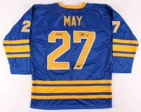 """Brad May Signed Jersey Inscribed """"Mayday!"""" (Playball Ink Hologram) at PristineAuction.com"""