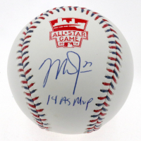 "Mike Trout Signed 2014 All-Star Game Baseball Inscribed ""14 AS MVP"" (MLB Hologram) at PristineAuction.com"