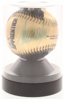 """Donald Trump Signed """"The Apprentice"""" Golden Baseball With Display Case (JSA ALOA) at PristineAuction.com"""