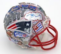 Tom Brady & Charles Fazzino Signed Patriots Hand-Painted Mini Helmet (TriStar COA, JSA LOA & Beckett LOA) at PristineAuction.com