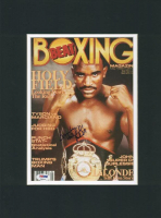 Evander Holyfield Signed 12x16 Custom Matted Photo Display (PSA COA) at PristineAuction.com