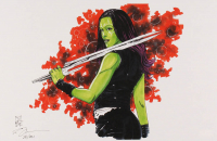 "Tom Hodges - Gamora - Marvel Comics - Signed 11"" x 17"" Lithograph LE #/20 (PA COA) at PristineAuction.com"