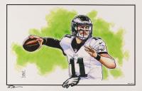 "Tom Hodges - Carson Wentz - Eagles - Signed 11"" x 17"" Lithograph (PA COA) at PristineAuction.com"