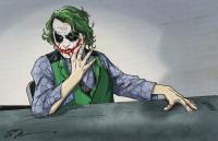 "Tom Hodges - The Joker - Heath Ledger - ""Batman"" - DC Comics - Signed 11"" x 17"" Print (PA COA) at PristineAuction.com"