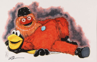 """Tom Hodges - Gritty - Flyers - Signed 11"""" x 17"""" Lithograph (PA COA) at PristineAuction.com"""