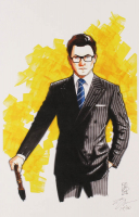 "Tom Hodges - Harry Hart / Galahad - ""Kingsman"" - Signed 11"" x 17"" Lithograph LE #/20 (PA COA) at PristineAuction.com"