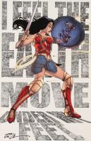 "Tom Hodges - Wonder Woman - DC Comics - Signed 11"" x 17"" Print (PA COA) at PristineAuction.com"