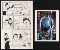 """Tom Hodges - """"Midknight"""" - Antiis Comics - Lot of (2) Signed Items with ORIGINAL 11"""" x 17"""" Published Comic Art on Paper (1/1) & """"Midknight"""" Issue #1 Comic Book (PA COA) at PristineAuction.com"""