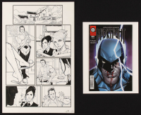 "Tom Hodges - ""Midknight"" - Antiis Comics - Lot of (2) Signed Items with ORIGINAL 11"" x 17"" Published Comic Art on Paper (1/1) & ""Midknight"" Issue #1 Comic Book (PA COA) at PristineAuction.com"