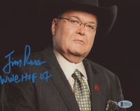 """Jim Ross Signed 8x10 Photo Inscribed """"WWE HOF 07"""" (Beckett COA) at PristineAuction.com"""