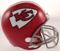 Chiefs Super Bowl IV Champions Full-Size Throwback Helmet Signed by (4) with Emmitt Thomas, Curley Culp, Jan Stenerud & Johnny Robinson with (5) Inscriptions (JSA COA) at PristineAuction.com