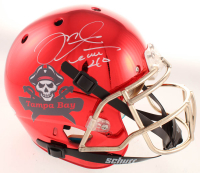 Mike Alstott Signed Buccaneers Full-Size Authentic On-Field Chrome Helmet (Beckett COA) at PristineAuction.com