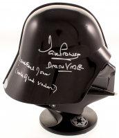 "David Prowse & James Earl Jones Signed ""Star Wars"" Darth Vader Authentic Miniature Helmet Inscribed ""Is Darth Vader"" & ""Voice of Darth Vader"" (Beckett Hologram) at PristineAuction.com"