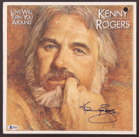 """Kenny Rogers Signed """"Love Will Turn You Around"""" Vinyl Record Album Cover (Beckett COA) at PristineAuction.com"""