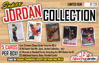 Michael Jordan Super Collection Mystery Box – (5+) Cards Per Box! 90's Inserts & More! at PristineAuction.com