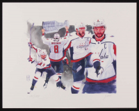 Alexander Ovechkin - Capitals - John Yim 11x14 Signed Limited Edition Lithograph #/100 (PA COA) at PristineAuction.com