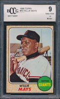 Willie Mays 1968 Topps #50 (BCCG 9) at PristineAuction.com