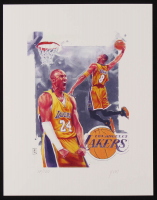 Kobe Bryant - Lakers - John Yim 11x14 Signed Limited Edition Lithograph #/100 (PA COA) at PristineAuction.com