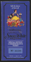 "Walt Disney's ""Snow White & the Seven Dwarfs"" 50th Anniversary Commemorative Ticket & Coin Set at PristineAuction.com"