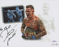 "Dustin Poirier Signed UFC 8x10 Photo Inscribed ""The Diamond"" (PSA COA) at PristineAuction.com"