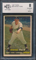 Whitey Ford 1957 Topps #25 (BCCG 8) at PristineAuction.com
