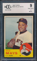 Willie Mays 1963 Topps #300 (BCCG 9) at PristineAuction.com