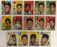 Lot of (14) 1954 Topps Baseball Cards with Preacher Roe #14, Alan Rosen #15, Pete Runnells #6, Ferris Fain #27, Mel Parnell #40 at PristineAuction.com