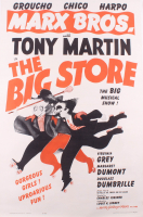 """Marx Bros. - The Big Store"" 30.75x45.25 Poster on Cavas at PristineAuction.com"