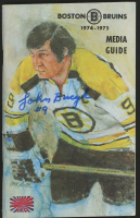 Johnny Bucyk Signed 1974-1975 Media Guide (Your Sports Memorabilia Store COA) at PristineAuction.com