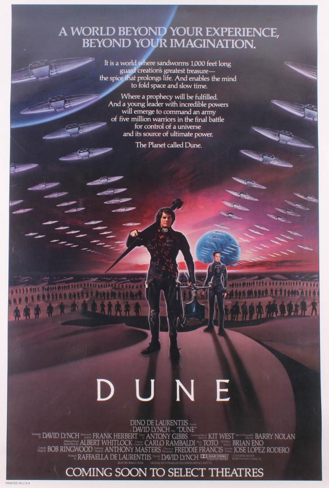 """Dune"" 28.75x42.25 Poster on Cavas at PristineAuction.com"