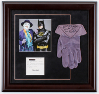 "Jack Nicholson Signed Screen Worn Custom Framed Joker Glove Inscribed ""Ha! Ha! Ha! Ha! Ha!"" & ""Joker"" (PSA LOA) at PristineAuction.com"