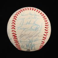 1989 Oakland Athletics Logo Baseball Team-Signed by (31) with Tony La Russa, Dennis Eckersley, Rickey Henderson, Jose Canseco, Mark McGwire (PSA LOA) at PristineAuction.com