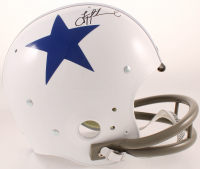 Troy Aikman Signed Cowboys Full-Size Throwback Suspension Helmet (Beckett COA & Aikman Hologram) at PristineAuction.com