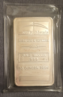 10 Troy Oz .999 NTR Metals Fine Silver Bullion Bar at PristineAuction.com