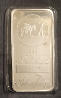 10 Troy Oz .999 Silver Towne Fine Silver Bullion Bar at PristineAuction.com
