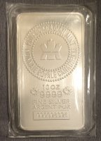 10 Troy Oz .999 Royal Canadian Mint Fine Silver Bullion Bar at PristineAuction.com