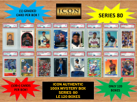 ICON AUTHENTIC  100X MYSTERY BOX SERIES 80 100+ Cards per Box at PristineAuction.com