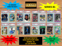 ICON AUTHENTIC  100X MYSTERY BOX SERIES 81 100+ Cards per Box at PristineAuction.com