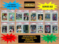 ICON AUTHENTIC  100X MYSTERY BOX SERIES 82 100+ Cards per Box at PristineAuction.com