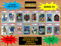 ICON AUTHENTIC  100X MYSTERY BOX SERIES 73 100+ Cards per Box at PristineAuction.com